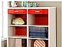 ●ISO900-塑合板料DIY傢俱.-3M-9090R-熱情紅白-六格二抽櫃