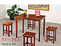 東風潮-懷舊實木餐桌椅-田園油木餐桌椅組+TU-171+TU-131*4
